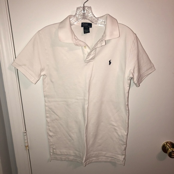 Unisex Kids Ralph Lauren White Polo Shirt size 14 f71a78ac18df5